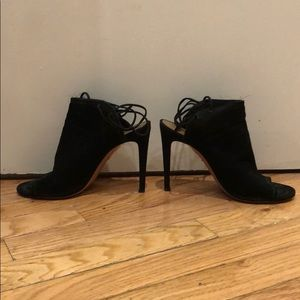 Aquazzura black suede heeled sandals